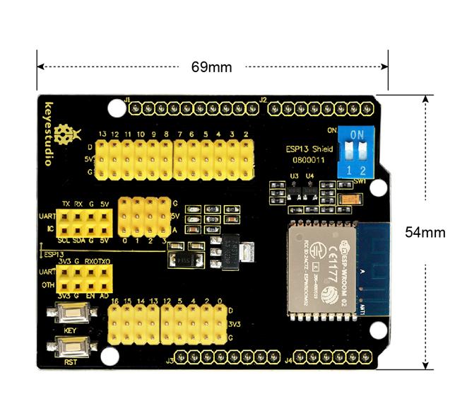 Ks0366 Keyestudio ESP13 Shield Serial Port Module