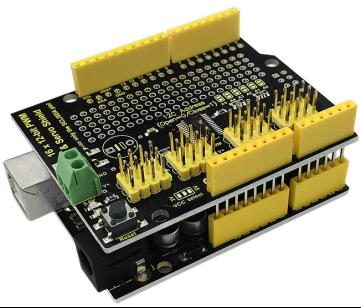 Keyestudio 16 Channel Servo Motor Drive Shield for Arduino UNO R3 Board
