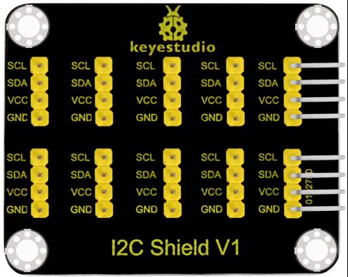 keyestudio I2C 인터페이스 변환 실드 (블랙 및 친환경) / keyestudio I2C Interface Conversion Shield (Black and Ecofriendly)