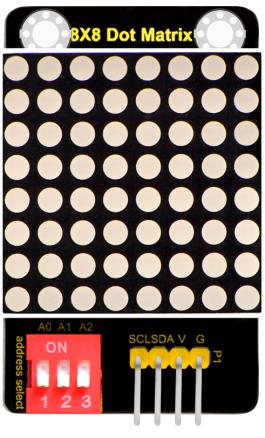 keyestudio 8x8 LED 매트릭스 모듈 주소 선택 / Keyestudio 8x8 LED Matrix Module Address Select
