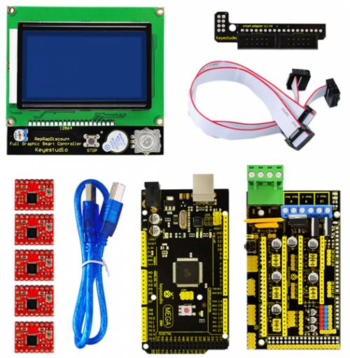 Ks0090 keyestudio 3D Printer Kit RAMPS 1 4 + Mega 2560 + 5x A4988 +