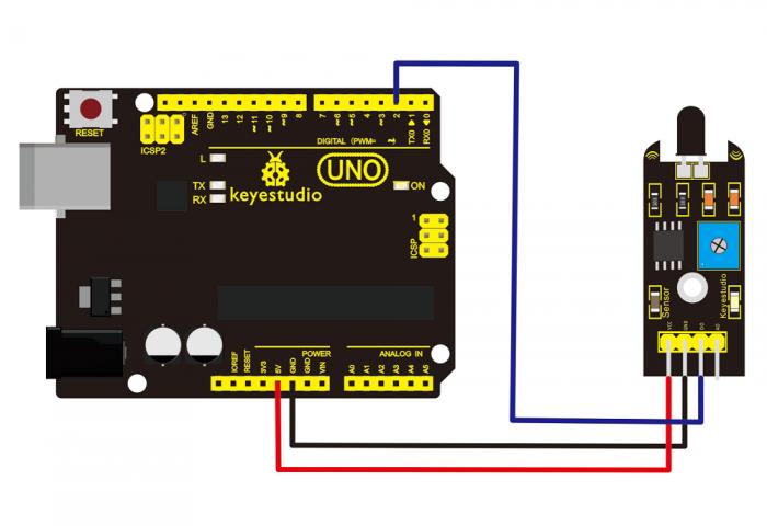 Ks0036 keyestudio Flame Sensor - Keyestudio Wiki