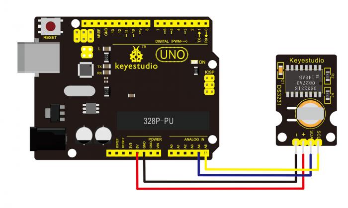 Ks0039 keyestudio DS3231 Clock Module - Keyestudio Wiki