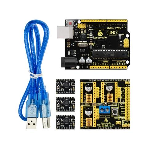 Ks0094 Arduino CNC kit / CNC Shield V2 0 +keyestudio Uno R3+