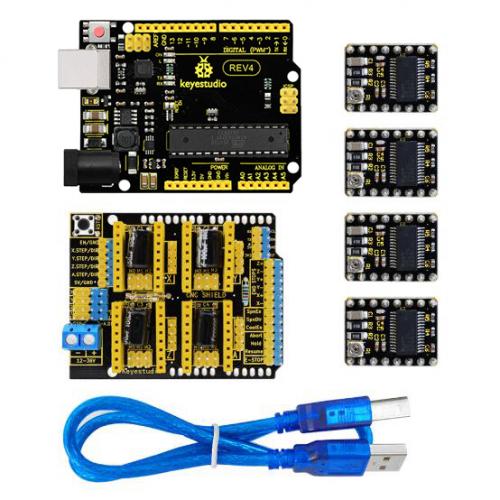 Ks0286 Keyestudio Cnc Kit Cnc Shield V3 0 Keyestudio Uno