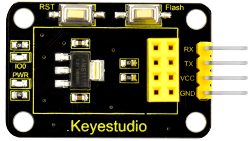 Keyestudio ESP 01S Arduino 용 직렬 실드로의 WIFI / Keyestudio ESP 01S WIFI to Serial Shield for Arduino (Black and Ecofriendly)