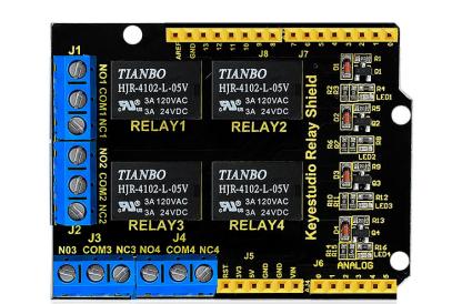 Ks0251 keyestudio 4-channel Relay Shield - Keyestudio Wiki