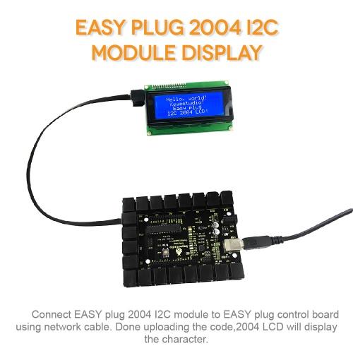 Ks0138 keyestudio EASY plug I2C 2004 LCD - Keyestudio Wiki