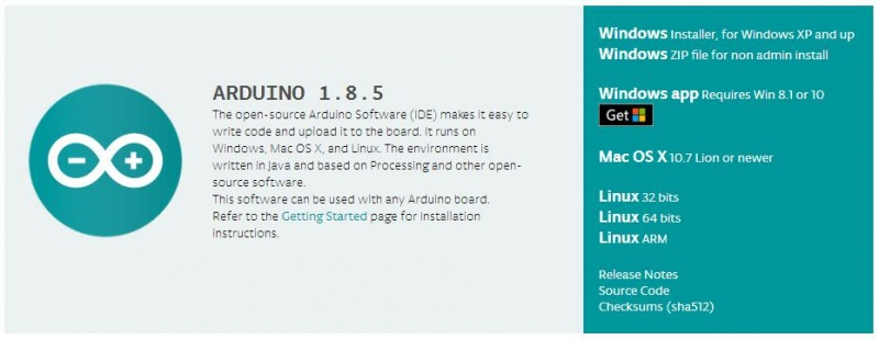 Download and install the arduino software (ide)