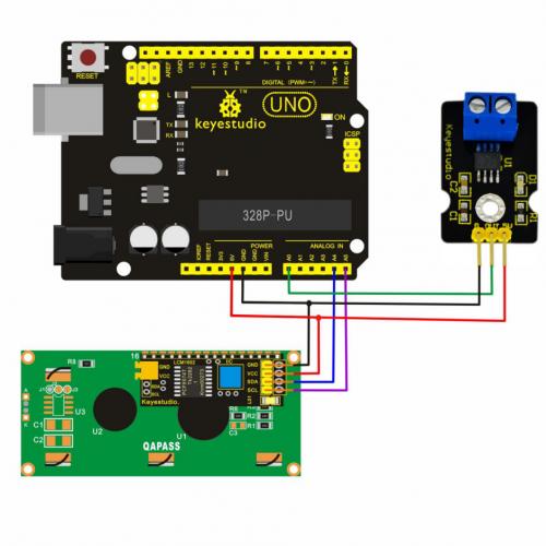 Ks0185 keyestudio ACS712-30A Current Sensor - Keyestudio Wiki